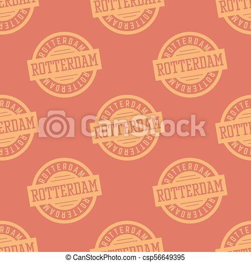 Rotterdam seamless pattern - csp56649395