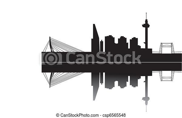 rotterdam skyline - csp6565548