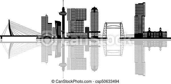 Rotterdam skyline netherlands - csp50633494
