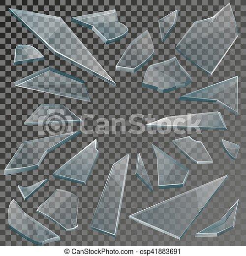 Rotto Trasparenza Shards Realistico Vetro Checkered Sfondo