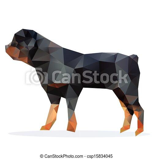 rottweiler, vector - csp15834045