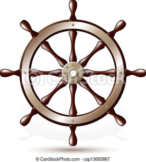 roue bateau direction roue isol illustration clip art vectoriel rechercher des. Black Bedroom Furniture Sets. Home Design Ideas