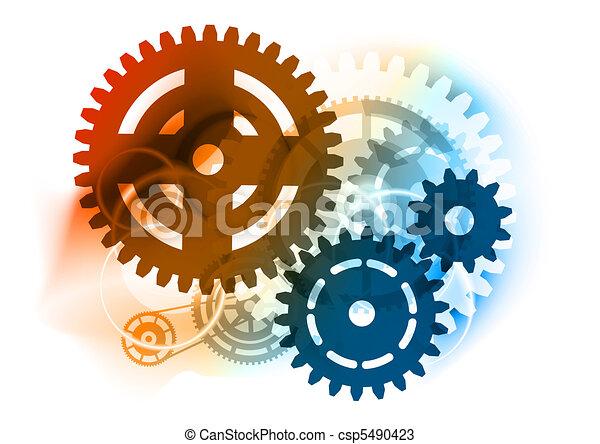 roue dentée, industriel - csp5490423