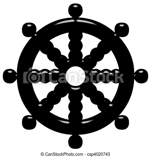 roue dharma symbole bouddhisme 3d roue symbole isol dharma bouddhisme blanc 3d. Black Bedroom Furniture Sets. Home Design Ideas