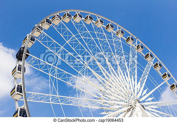 roue, ferris, ciel bleu, contre - csp19064453