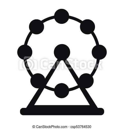 roue, ferris, silhouette - csp53764530