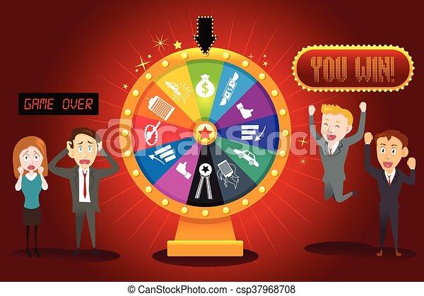 roue, fortune, financier, businesspeople - csp37968708