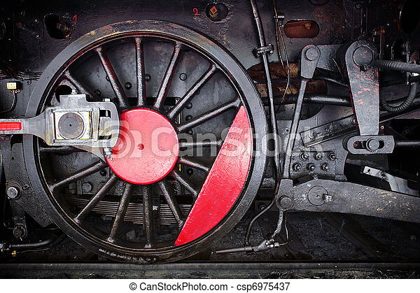 roue, locomotive - csp6975437