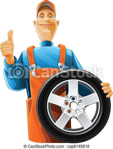 roue, mécaniquede l'auto - csp6145818