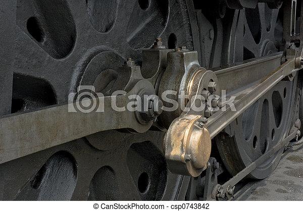 roue, train, ingénieur - csp0743842