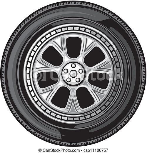 roue, (vector, tyre) - csp11106757