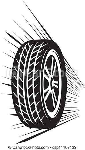 roue, (vector, tyre) - csp11107139