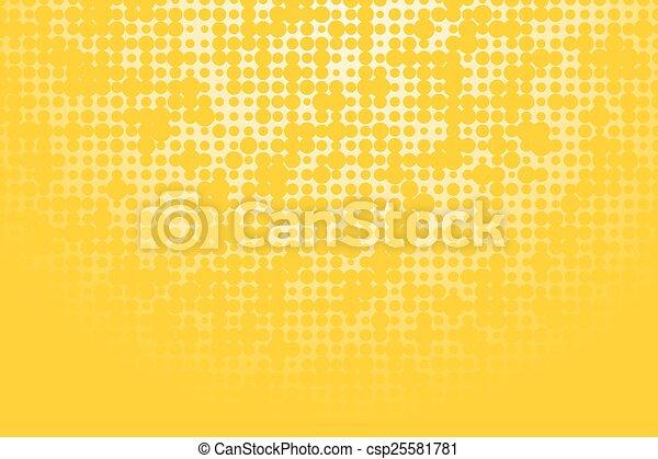 roues, fond jaune - csp25581781