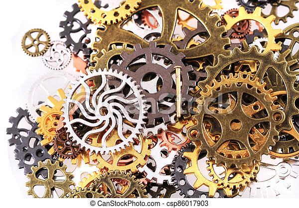 roues, machine, temps - csp86017903