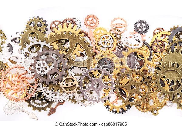 roues, machine, temps - csp86017905