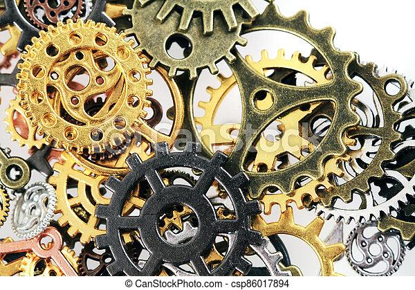 roues, machine, temps - csp86017894