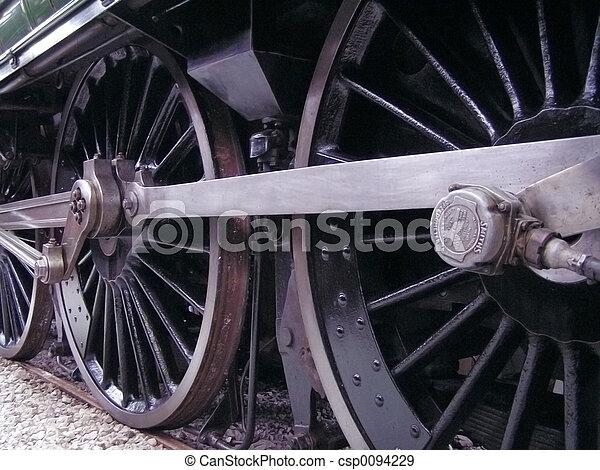 roues, train - csp0094229