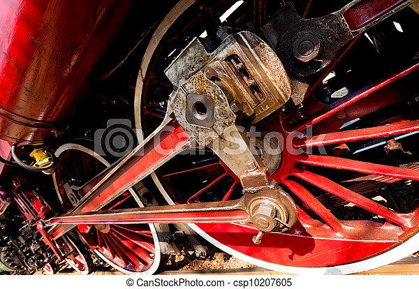 roues, train, vapeur - csp10207605