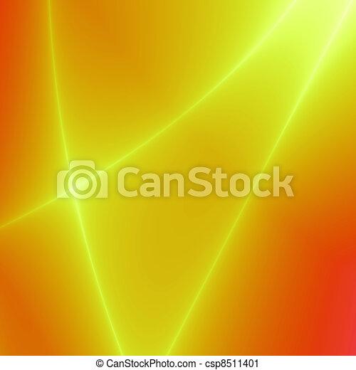 rouge-orange, couleur, rayons, puissant, fond jaune,... clipart ...