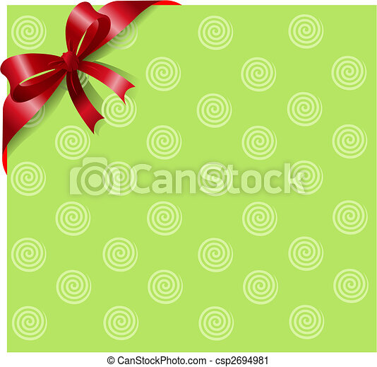 rouge vert, ruban - csp2694981