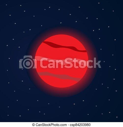rouges, étoilé, espace, planète - csp84203980