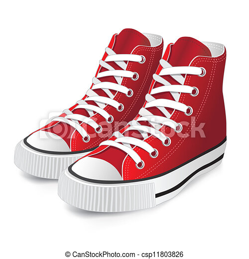 rouges, chaussure, sports - csp11803826
