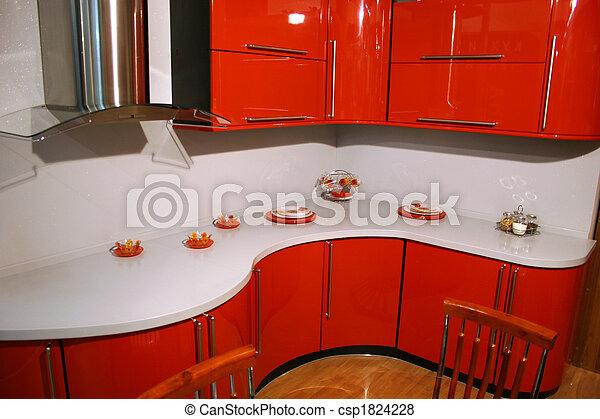 rouges, cuisine - csp1824228