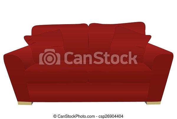rouges, sofa - csp26904404