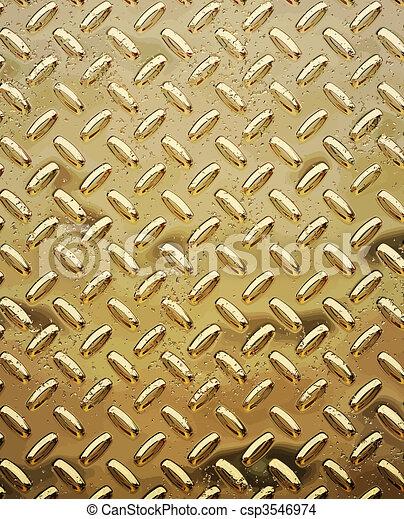 rough gold diamond plate - csp3546974