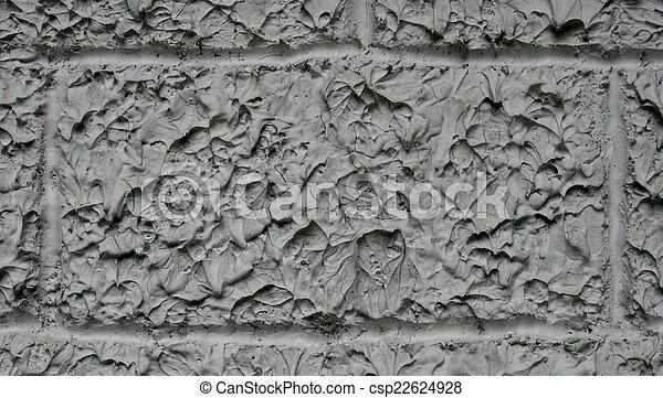 Rough gray concrete wall texture - csp22624928