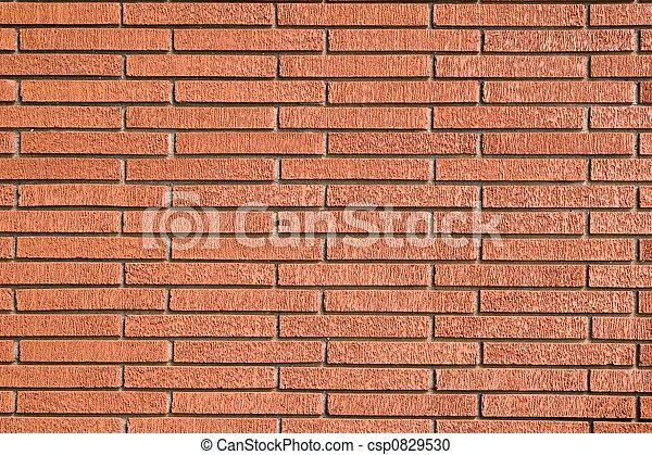 Rough Red Brick Wall - csp0829530