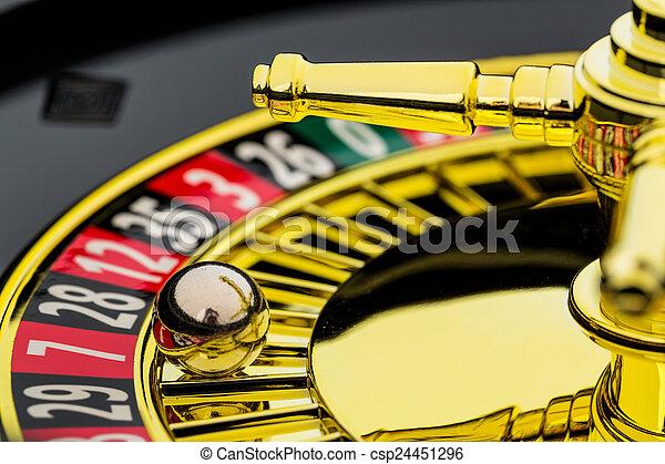 roulett, gluecksspiel, kasino - csp24451296