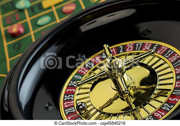 roulette casino gambling - csp45845216