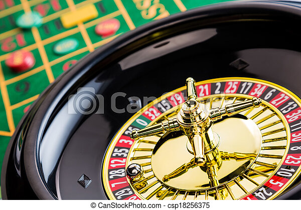 roulette gambling in the casino - csp18256375