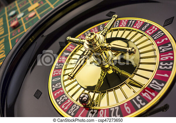 roulette gambling in the casino - csp47273650