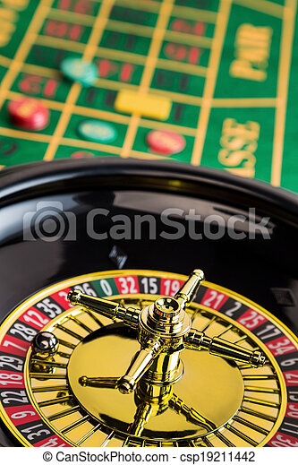 roulette gambling in the casino - csp19211442