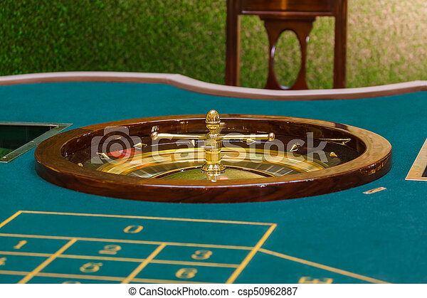 Roulette table in the casino - csp50962887