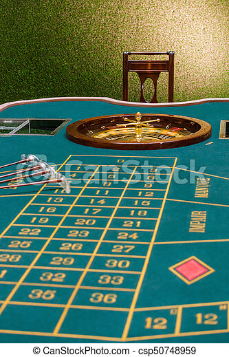 Roulette table in the casino - csp50748959