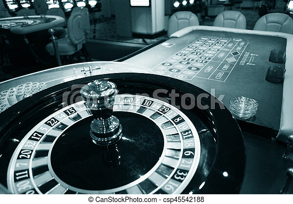 Roulette wheel in casino - csp45542188