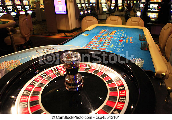 Roulette wheel in casino - csp45542161
