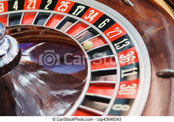 Roulette wheel in casino - csp43648343