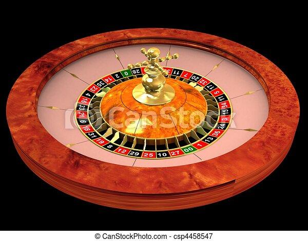 roulette wheel  - csp4458547