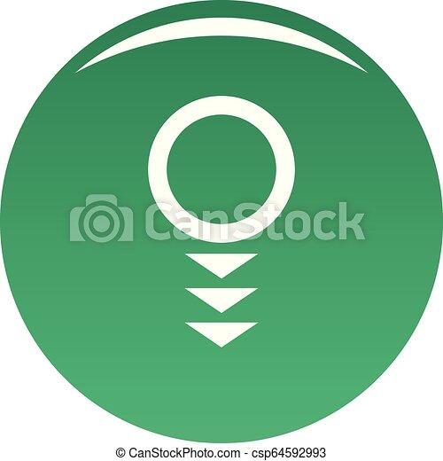 Round arrow icon vector green - csp64592993