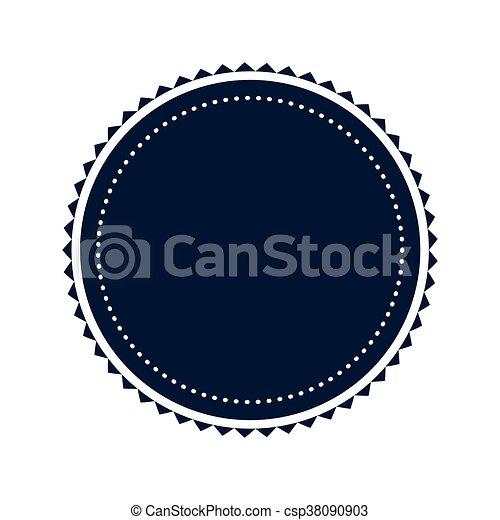 round badge icon blue simple flat design round decoration badge
