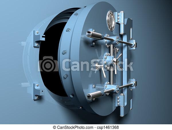 Round bank vault door - csp1461368