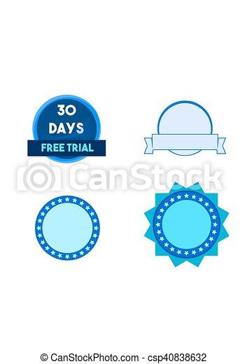Round banners - csp40838632