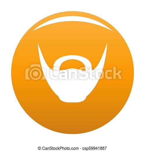 Round beard icon orange - csp59941887