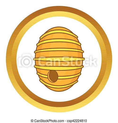 Round Beehive Vector Icon