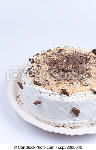 Round Birthday Cake With Chocolate On It