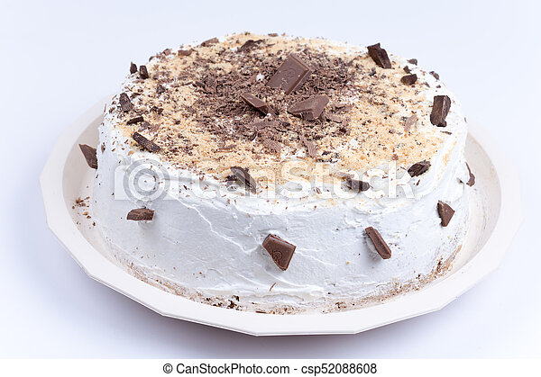Fabulous Round Birthday Cake With Chocolate On It Funny Birthday Cards Online Barepcheapnameinfo